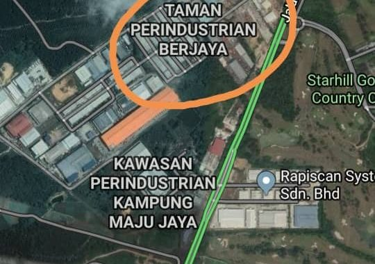 Johor Factory Malaysia Industry kempas-land-for-rent-PTR-24-location-map-540x380 土地 Land