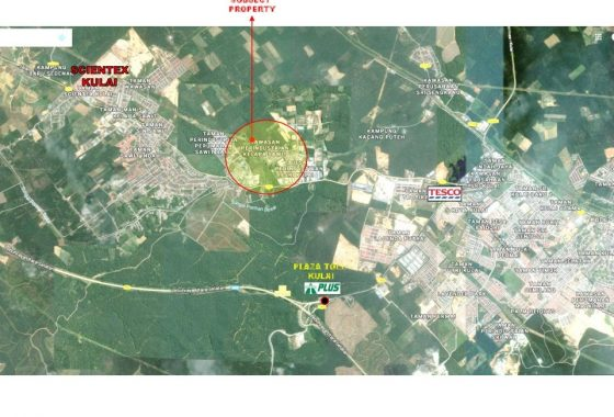 Johor Factory Malaysia Industry Kulai-Agriculture-Land-For-Sell-PTR-Land-27-location-map-560x380 土地 Land