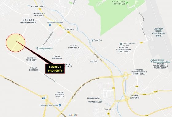 Johor Factory Malaysia Industry johor-kulai-indahpura-land-for-sell-PTR-Land-23-location-map-560x380 Indahpura Land For Sell (PTR Land 23)