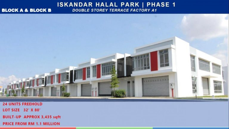 Johor Factory Malaysia Industry Iskandar-Halal-Park-8-768x432 Iskandar Halal Park
