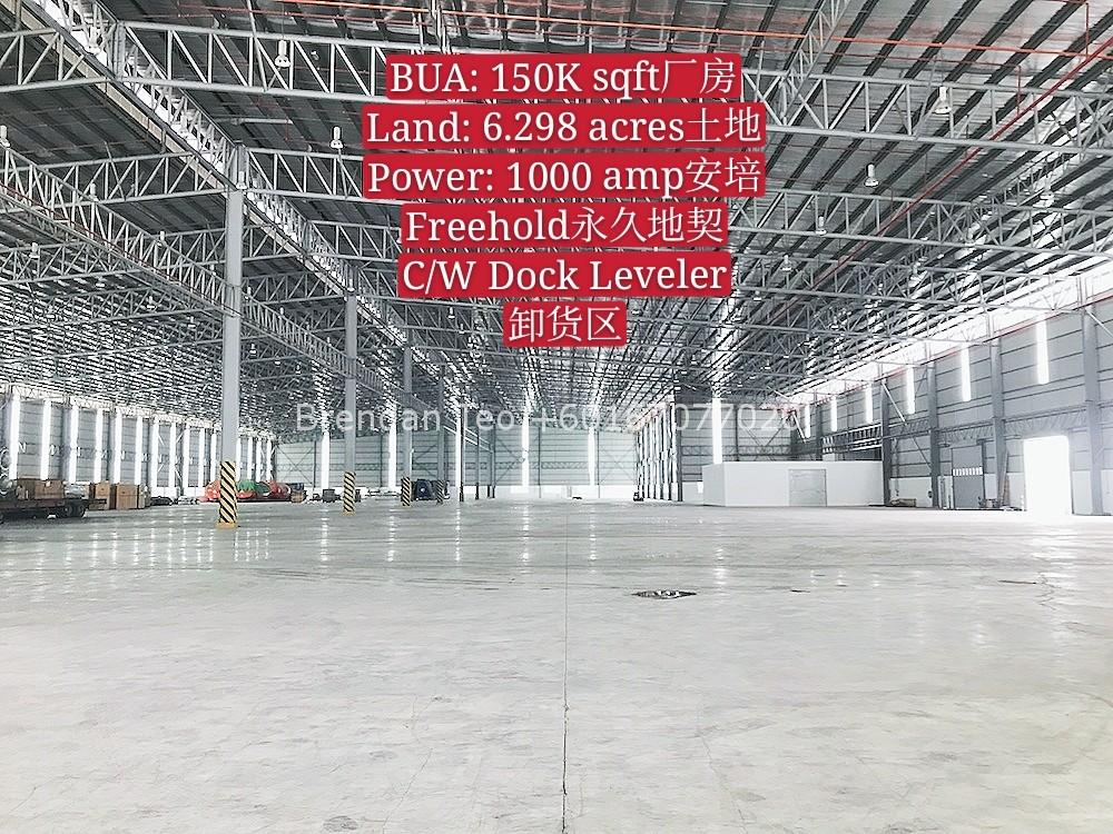 Johor Factory Malaysia Industry IMG-20200619-WA0018_mh1592897262641 Gelang Patah 150K sqft Warehouse with Dock Leveler For Rent