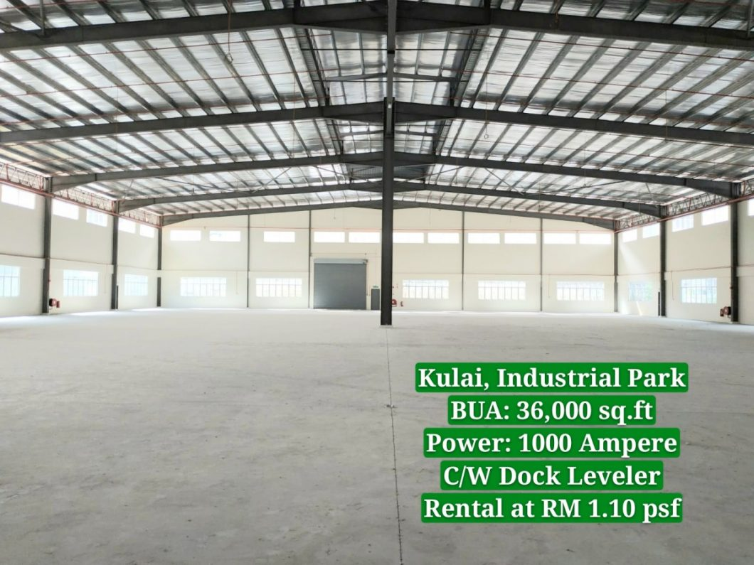 Johor Factory Malaysia Industry 20190828_132743_mh1566975025826-1060x795 Brand New Factory at Kulai,Indahpura Industrial Park with Dock Leveler For Sell (PTR129)