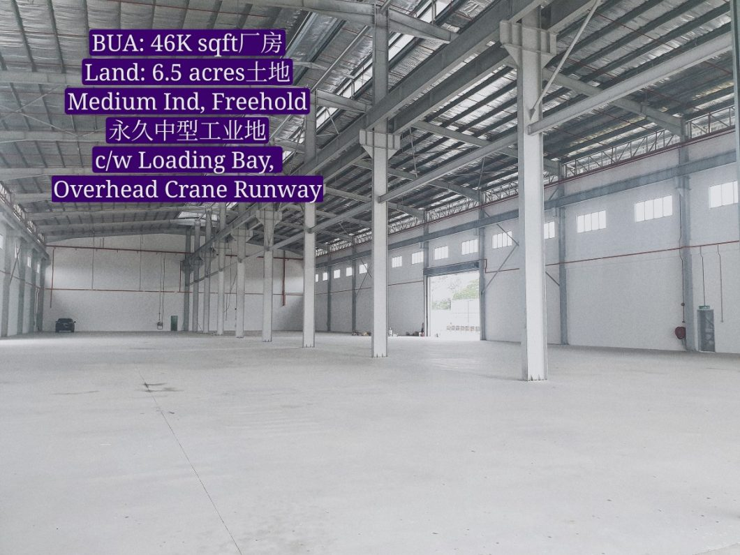 Johor Factory Malaysia Industry 20200608_141719_mh1591868317752-1060x795 Senai Area Freehold Detached Factory with 12 meter Height, 6.5 acres Land, Loading Bay and Overhead Crane Runway For Rent (BT-PTR43)