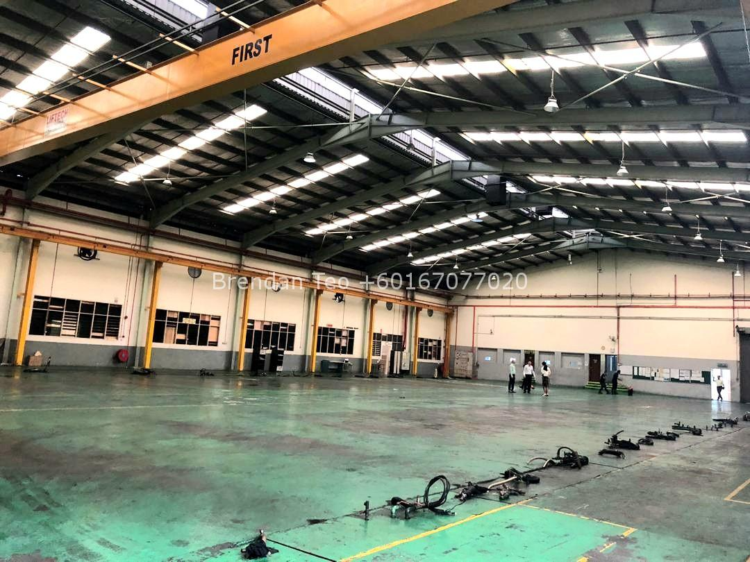 Johor Factory Malaysia Industry 20200228_132049-1 Desa Cemerlang Medium Ind.Factory with HT Power and Overhead Crane For Sell (PTR156 B)