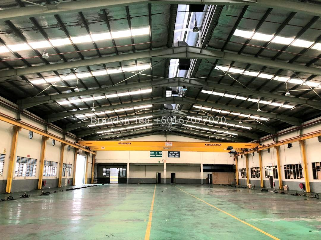 Johor Factory Malaysia Industry 20200228_132211-1 Desa Cemerlang Medium Ind.Factory with HT Power and Overhead Crane For Sell (PTR156 B)