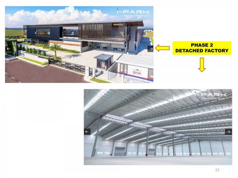 Johor Factory Malaysia Industry I-PARK-@-SAC-PHASE-3-GENERAL-FILE-1-23-768x576 i-Park @ Senai Airport City Industrial Resort