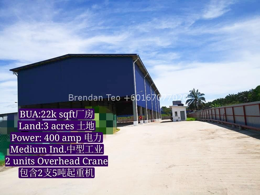 Johor Factory Malaysia Industry IMG-20200609-WA0020_mh1591771718587 Gelang Patah Open Shed Factory with Overhead Crane & Extra Land For Rent